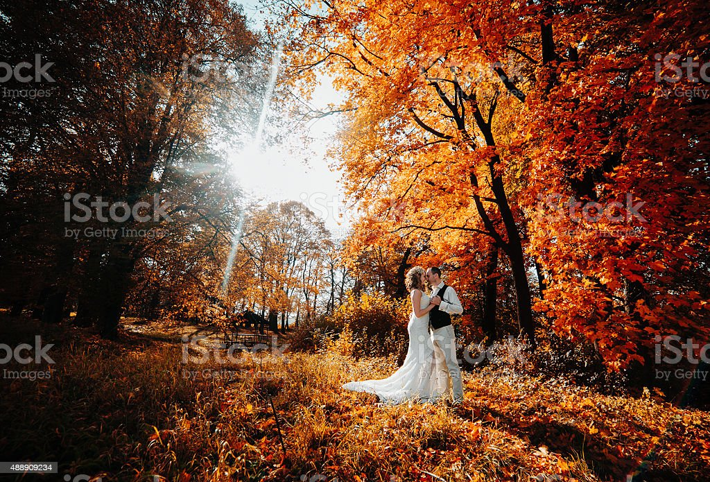 beautiful couple walking stock photo