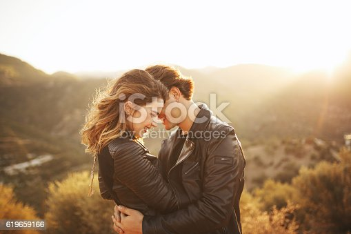 istock Beautiful couple with nature 619659166