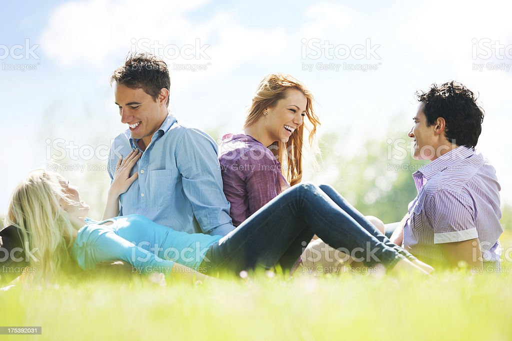 Beautiful couples resting together. royalty-free stock photo