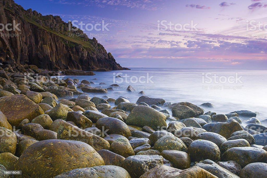 Beautiful Cove At Dusk royalty-free stock photo