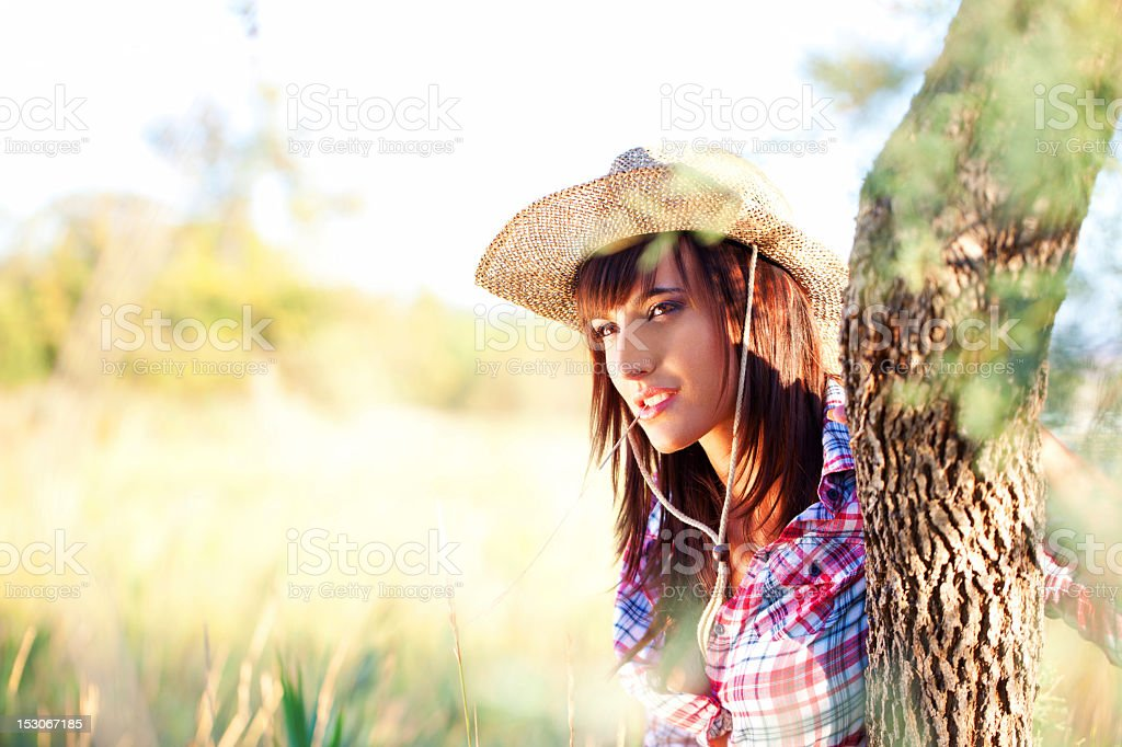Beautiful Cowgirl royalty-free stock photo