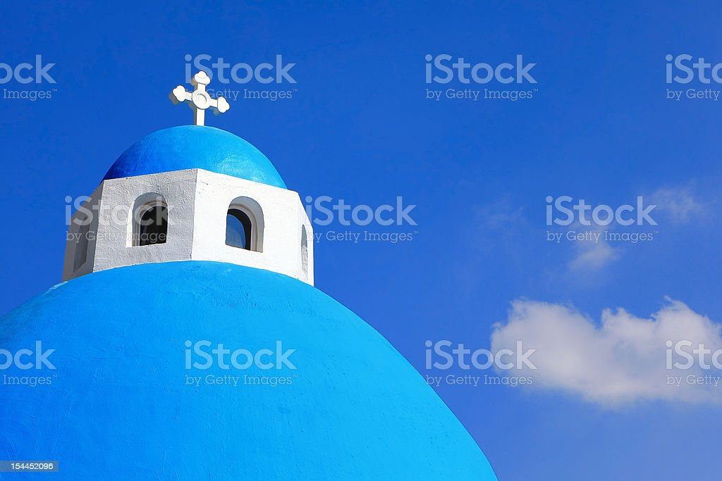 Beautiful Cross with blue sky and white cloud stock photo