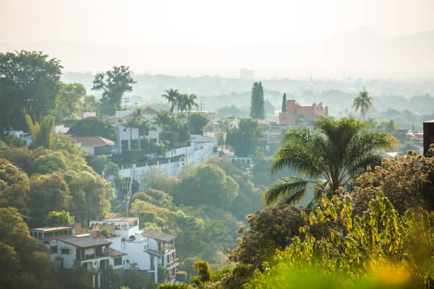 Beautiful Cuernavaca city landscape with houses stock photo