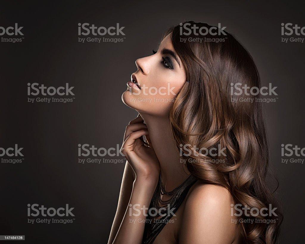 Beautiful Curly Hair stock photo