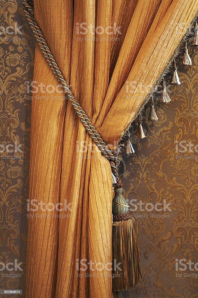 Beautiful curtain royalty-free stock photo