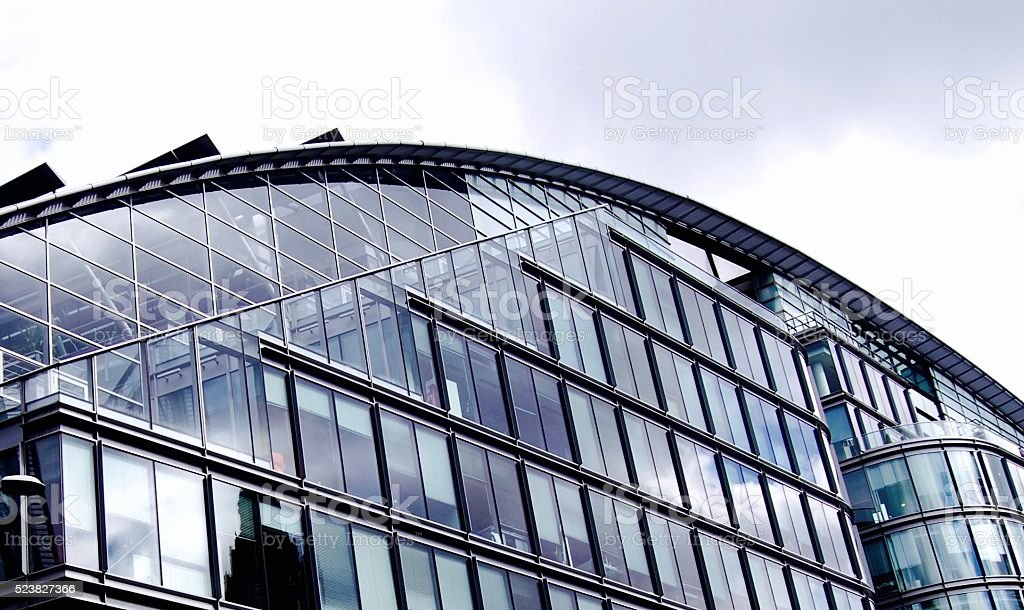Beautiful curve line of modern building stock photo