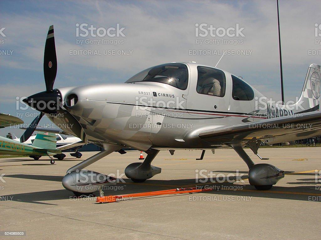 Beautiful custom Cirrus SR-22 Turbo aircraft. stock photo