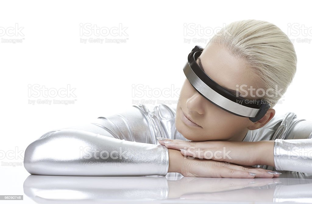 Beautiful cyber woman royalty-free stock photo
