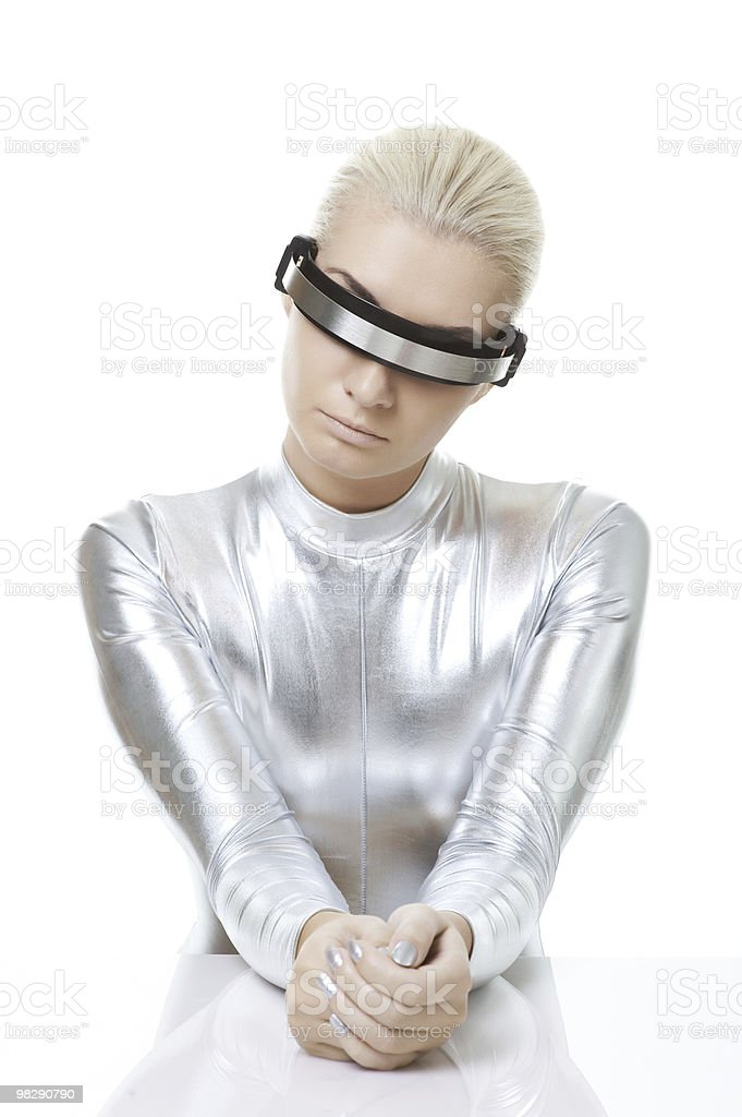 Beautiful cyber woman royalty-free stock photo
