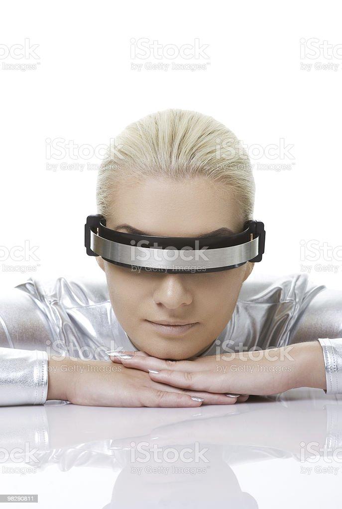 Bella donna cyber foto stock royalty-free