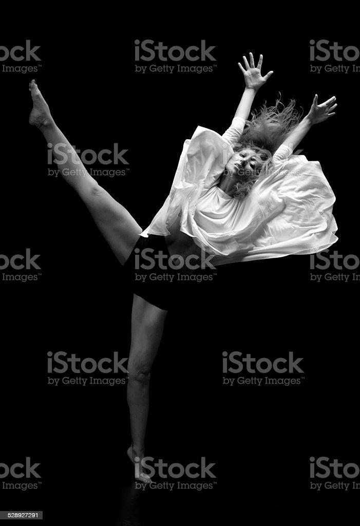 Beautiful dancer stock photo