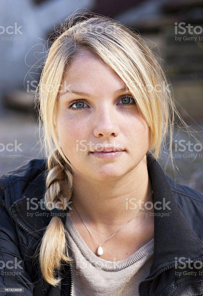 Beautiful danish young woman royalty-free stock photo