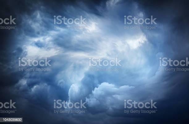 Photo of Beautiful dark storm sky.