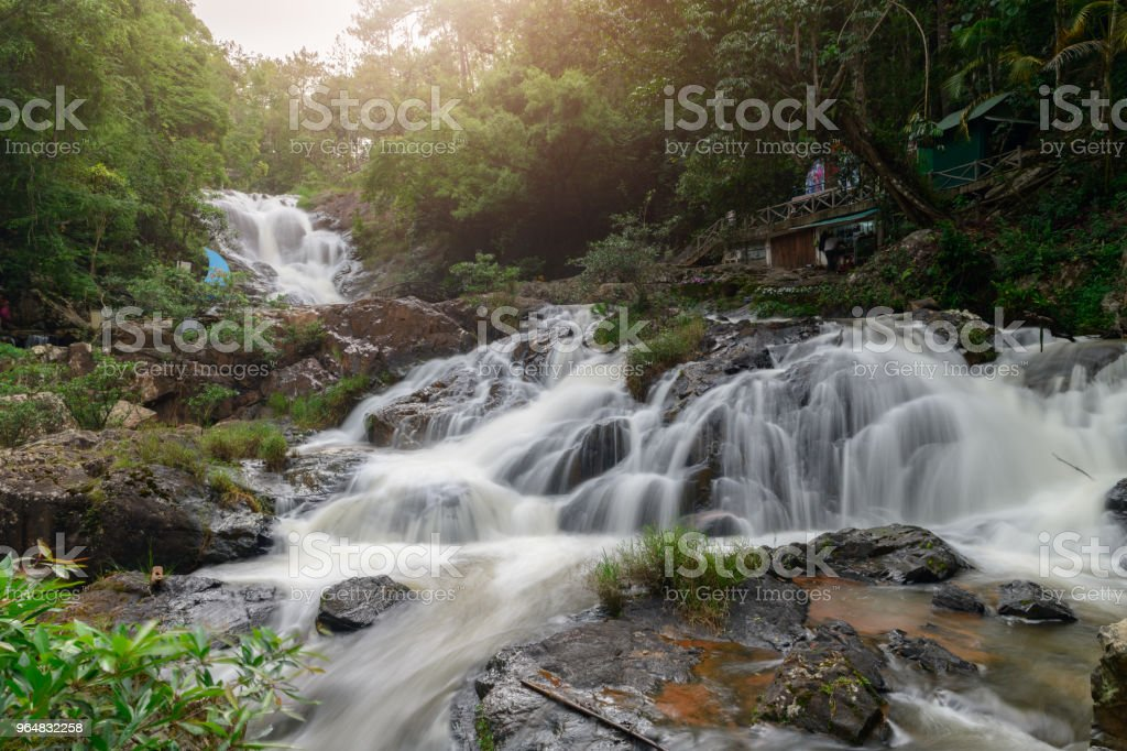 Beautiful Datanla Waterfalls, Dalat, Vietnam royalty-free stock photo