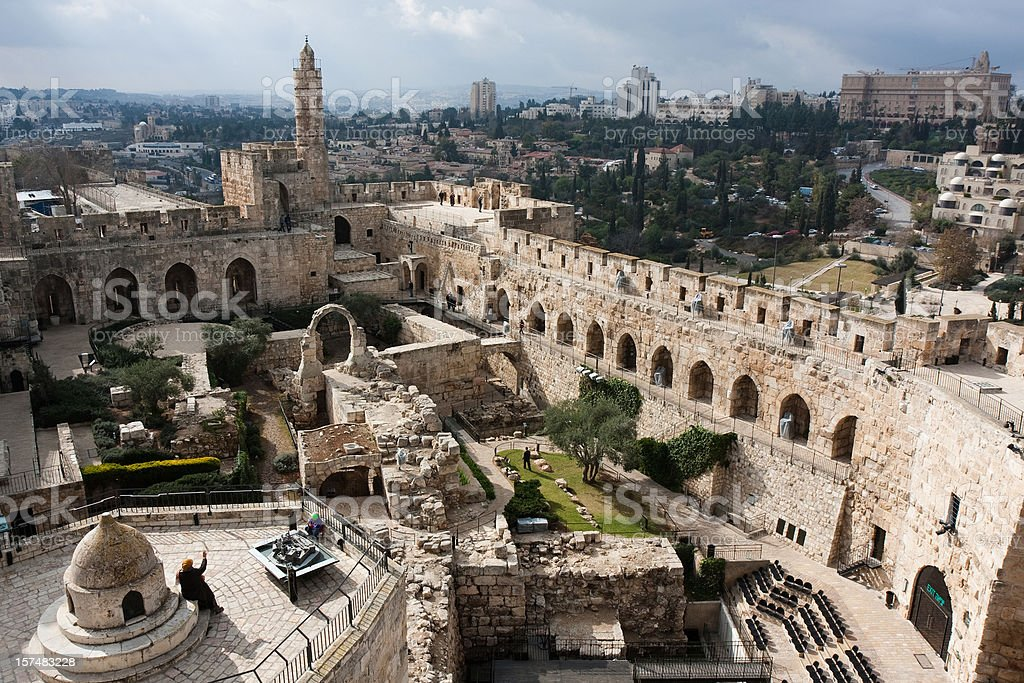 A beautiful David Tower in old Jerusalem royalty-free stock photo