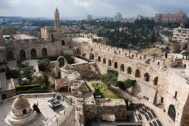 david tower, die altstadt von jerusalem - jerusalem stock-fotos und bilder