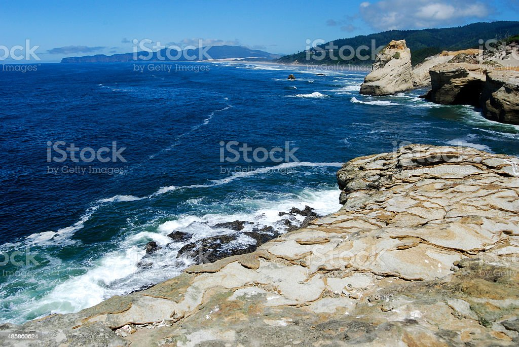 Beautiful Day at Cape Kiwanda stock photo