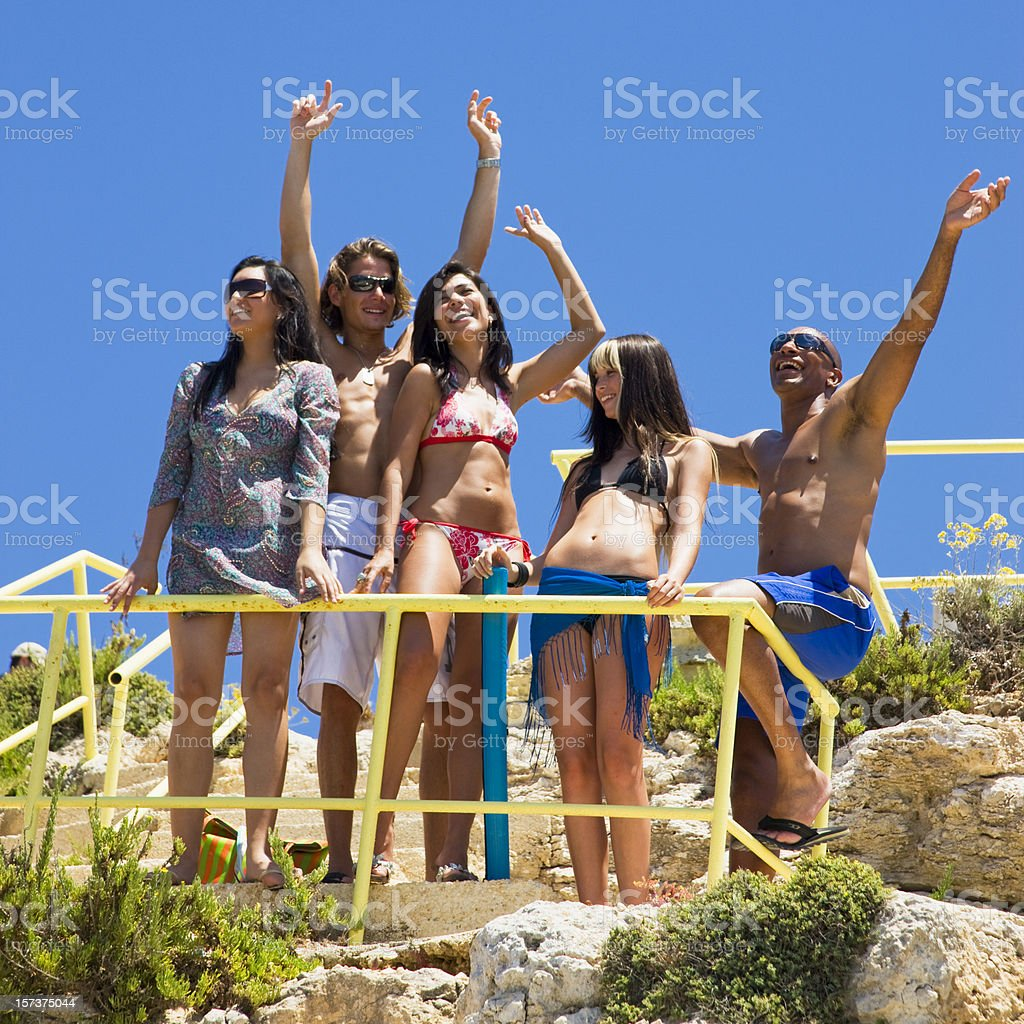 Beautiful Day at the Beach royalty-free stock photo