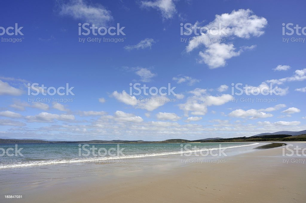 Beautiful Day at the Beach stock photo