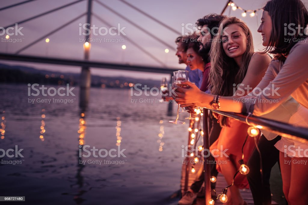 Beautiful day for a cruise royalty-free stock photo