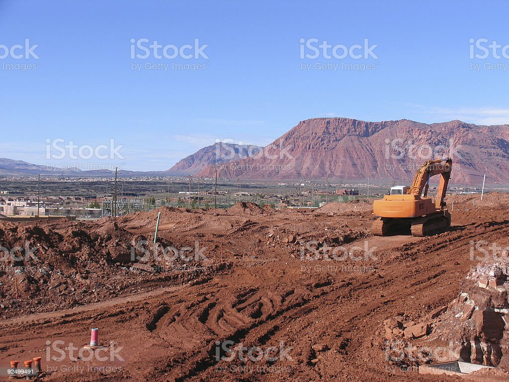 Beautiful Day for Construction royalty-free stock photo