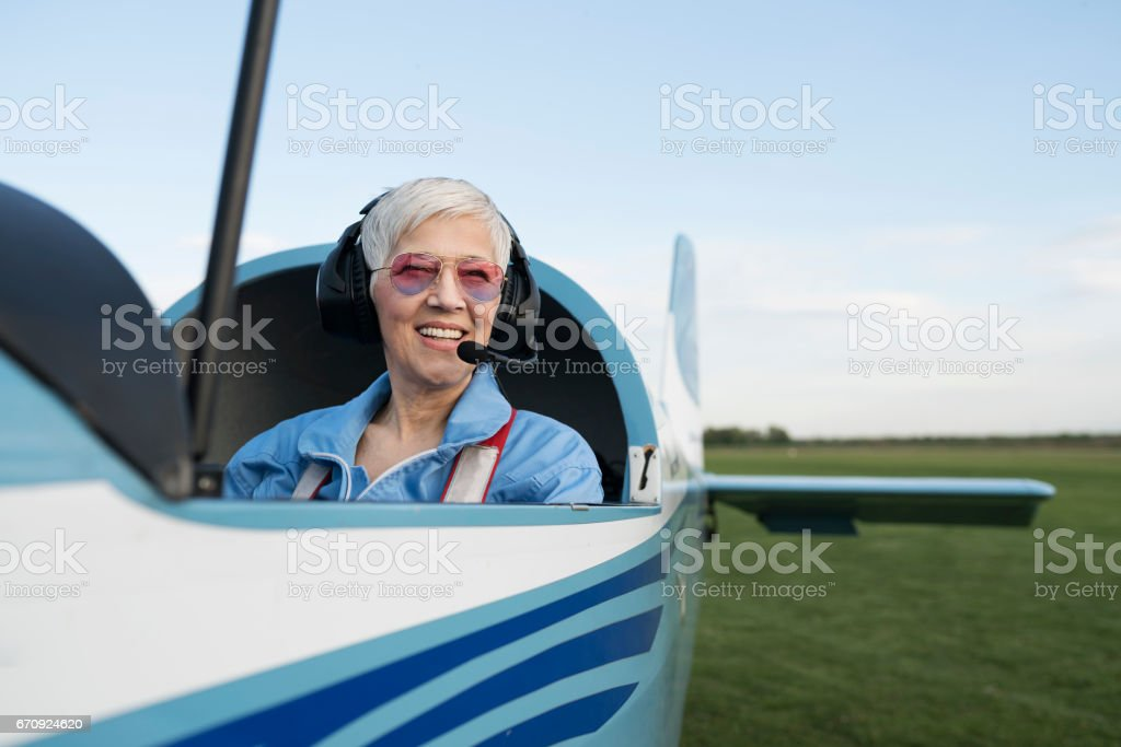 Beautiful day for flying stock photo