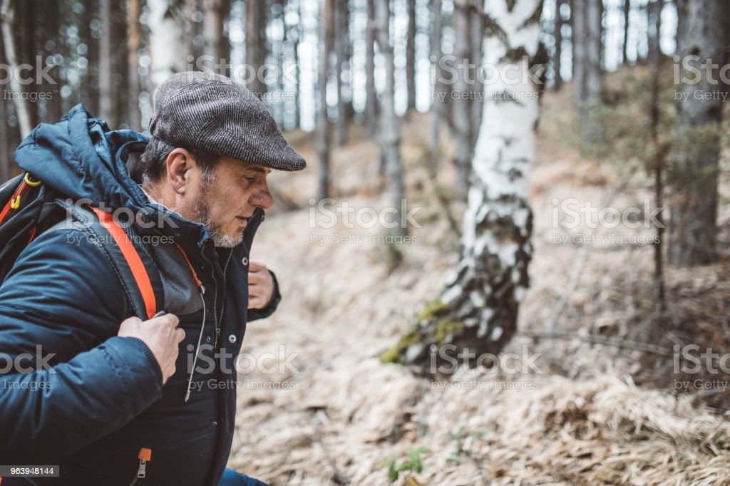 Beautiful day for hiking - Royalty-free Active Seniors Stock Photo