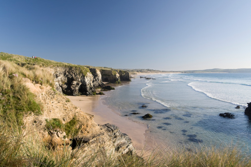 Beautiful day Gwithian beach on the north coast of Cornwall