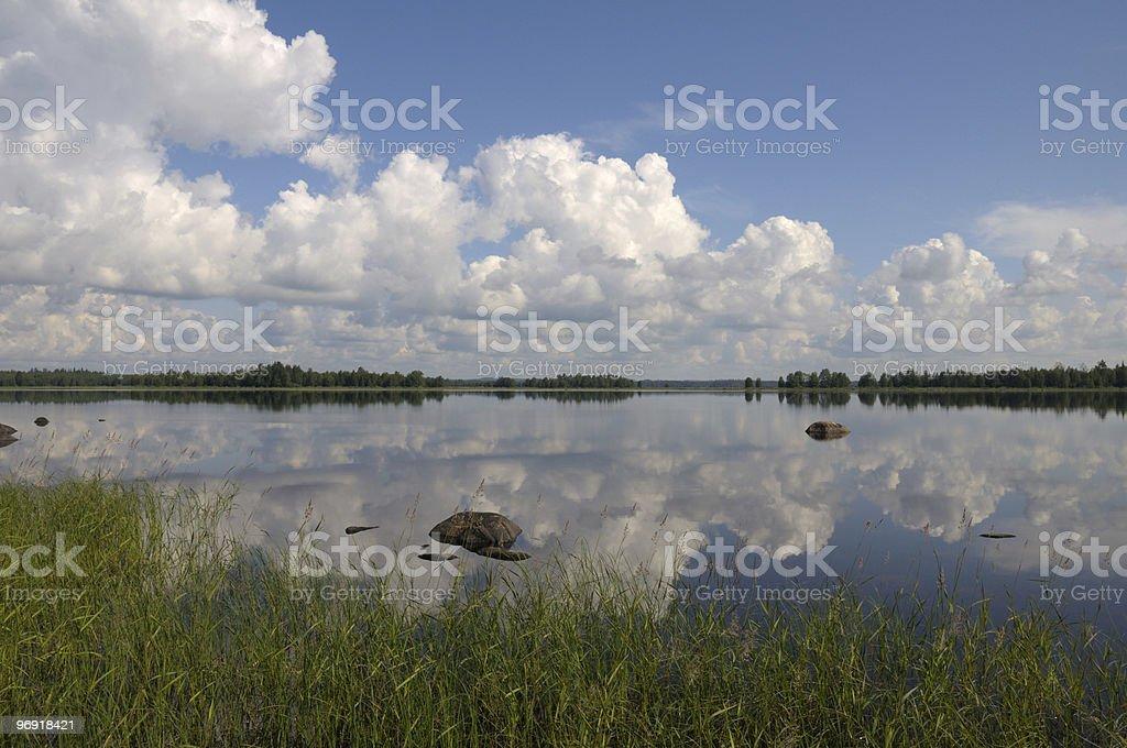 Beautiful day in Karelia region royalty-free stock photo