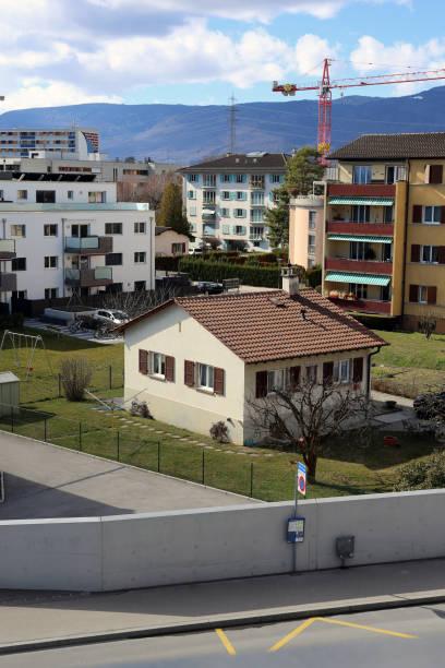 Beautiful Day in Nyon, Switzerland stock photo