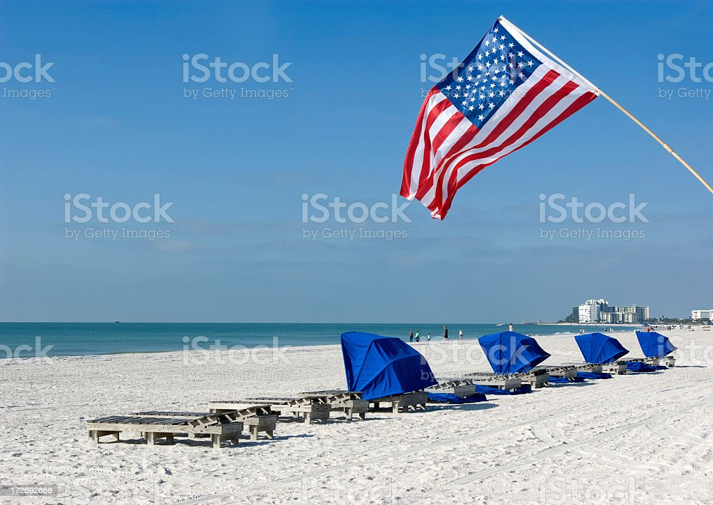 Beautiful day in the afternoon at the beach royalty-free stock photo