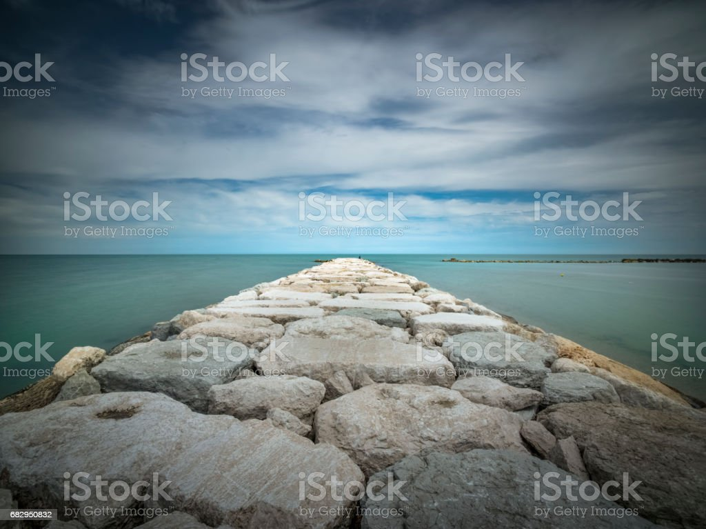 A beautiful day off the coast of Italy royalty-free stock photo