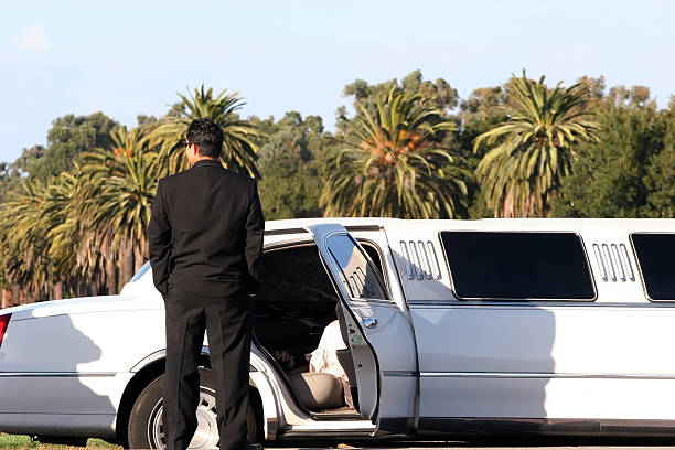 beautiful day to get married - limousine service stock photos and pictures