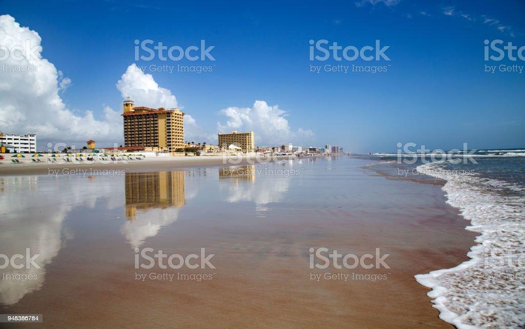 Beautiful Daytona Beach stock photo