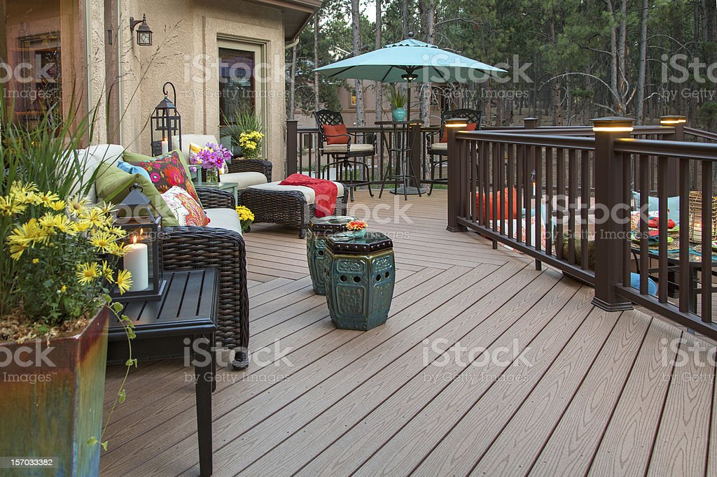 Beautiful Deck stock photo