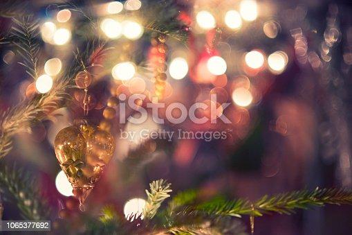 istock Beautiful decorated Christmas tree 1065377692