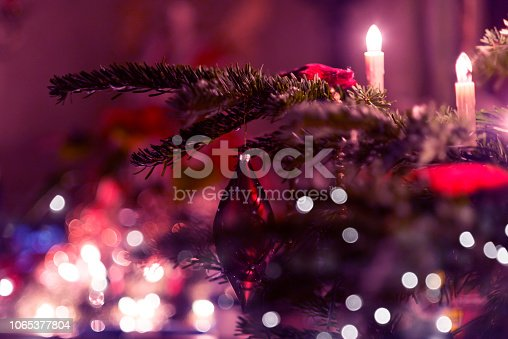 istock Beautiful decorated Christmas tree 1065377804