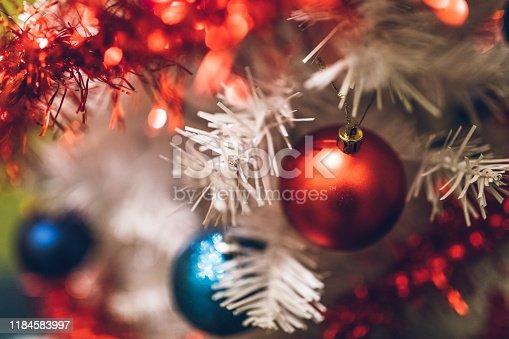 629046810 istock photo Beautiful decorated Christmas tree 1184583997