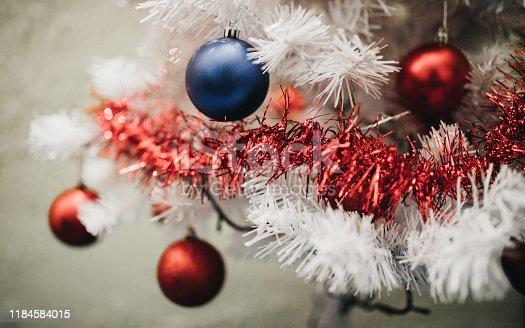 629046810 istock photo Beautiful decorated Christmas tree 1184584015