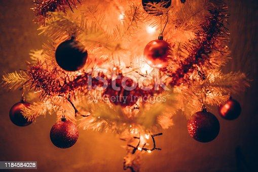 629046810 istock photo Beautiful decorated Christmas tree 1184584028