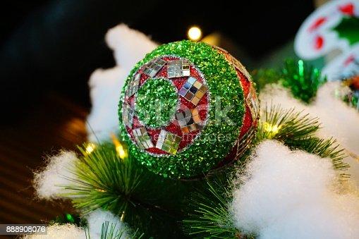 istock Beautiful decorated Christmas tree 888908076