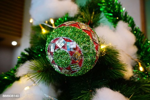 istock Beautiful decorated Christmas tree 888908140