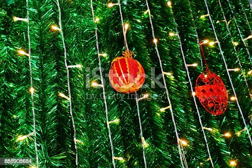 istock Beautiful decorated Christmas tree 888908684