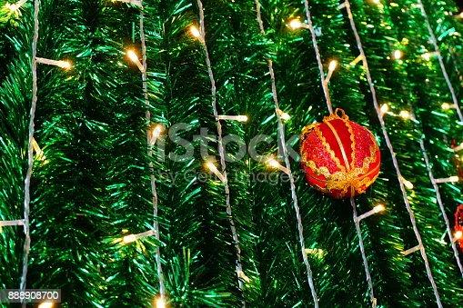 istock Beautiful decorated Christmas tree 888908700