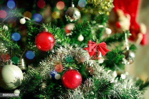 istock Beautiful decorated Christmas tree 898966098