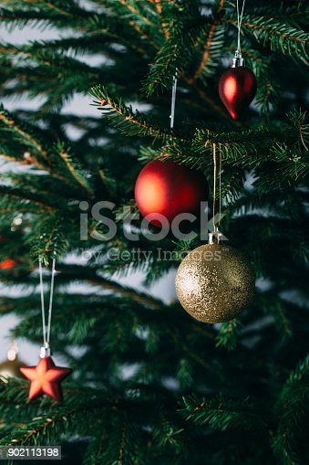 istock Beautiful decorated Christmas tree 902113198