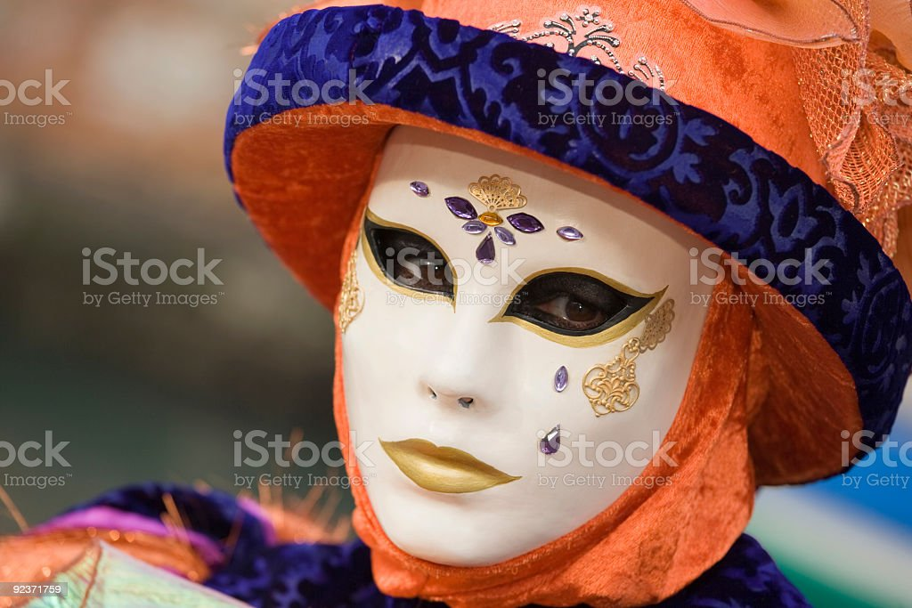 Beautiful decorated mask at Carnival in Venice (XL) royalty-free stock photo