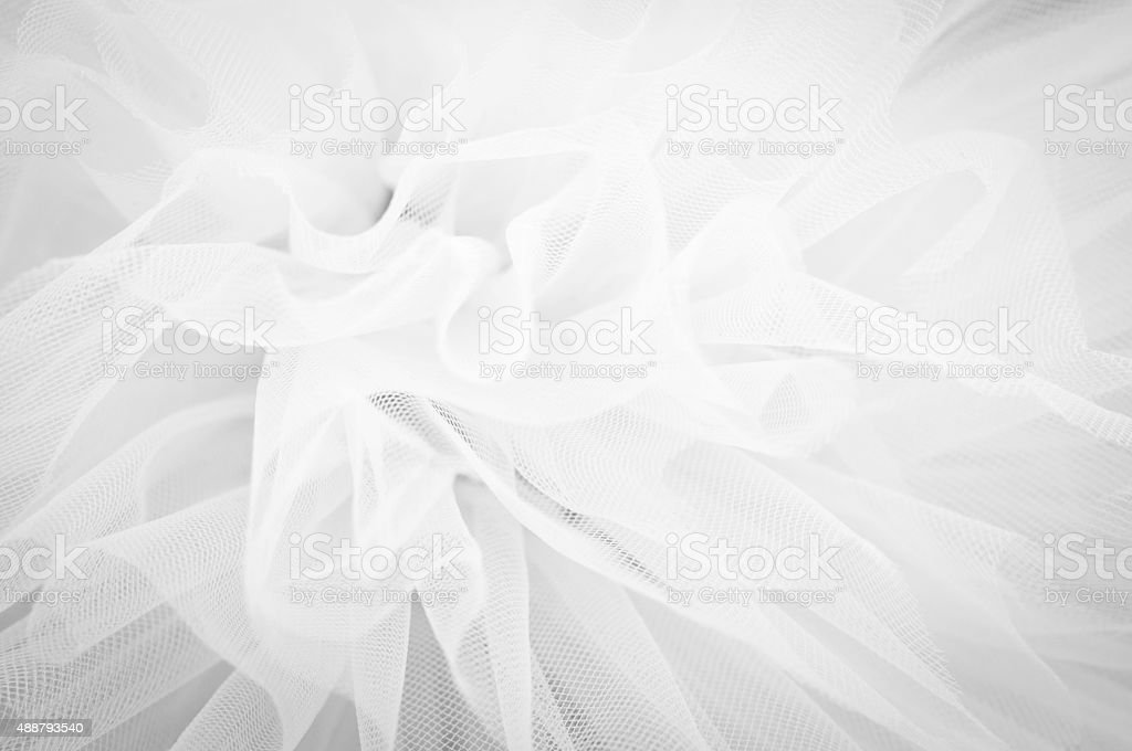 Beautiful delicate background mesh fluffy fabric, Black and white stock photo