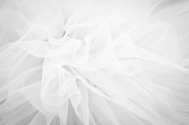 schönen zarten hintergrund mesh flauschigen stoff, schwarz und weiß - vintage spitze stock-fotos und bilder