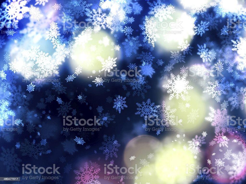 Piękne delikatne Boże Narodzenie śniegu tło – zdjęcie